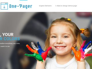 Preview Template onepage